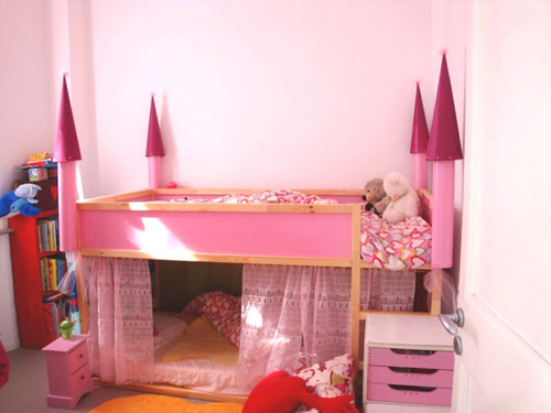 DIY Castle Bunk Bed 500 x 375