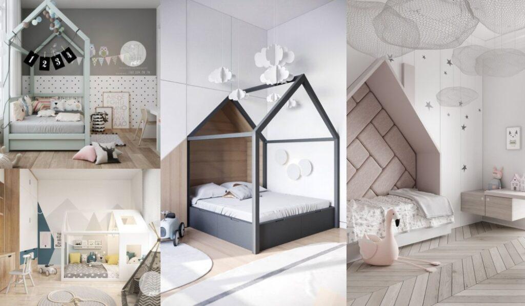 34 Habitaciones infantiles con casitas ¡Marcando estilo!