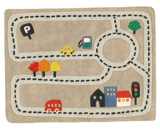 Alfombra circuito de coches habitaciones tematicas - Alfombra circuito coches ...