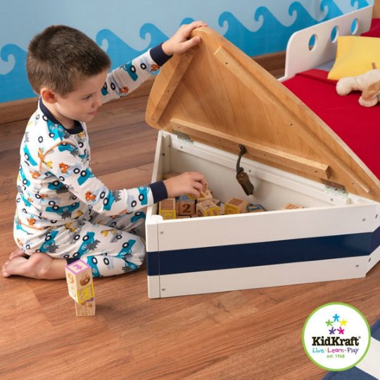 cama infantil con forma de barco habitaciones tematicas. Black Bedroom Furniture Sets. Home Design Ideas
