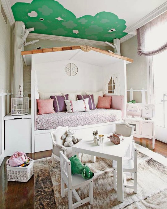 Cama-casita adorable para niñas