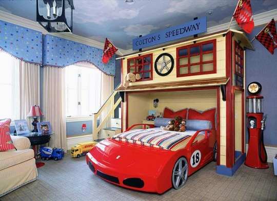 Inspiración habitación temática Coches