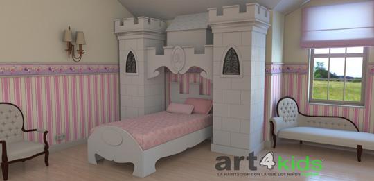 Habitaciones para ni as habitaciones tematicas - Cama princesa nina ...