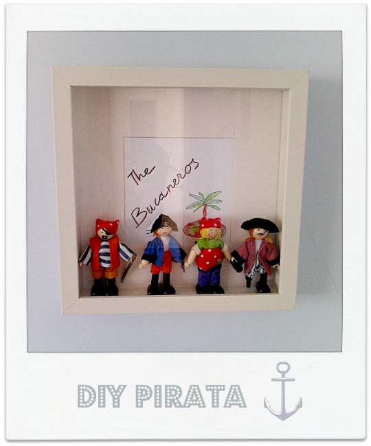 DIY cuadro Pirata
