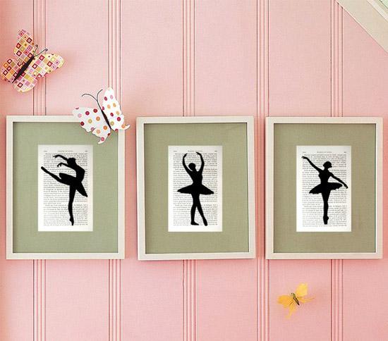 Cuadros de bailarinas habitaciones tematicas for Cuadros para decorar dormitorios