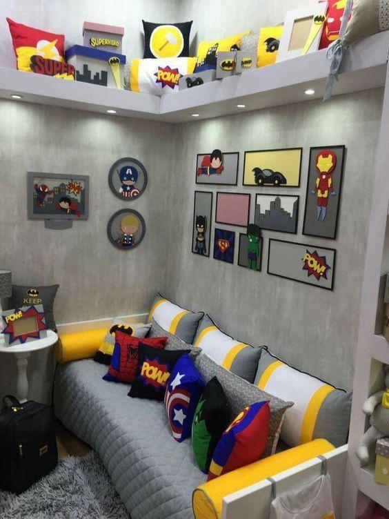 Cuartos decorados de Superheroes
