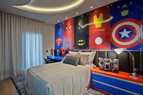 decoraci n cuarto superh roes habitaciones tematicas