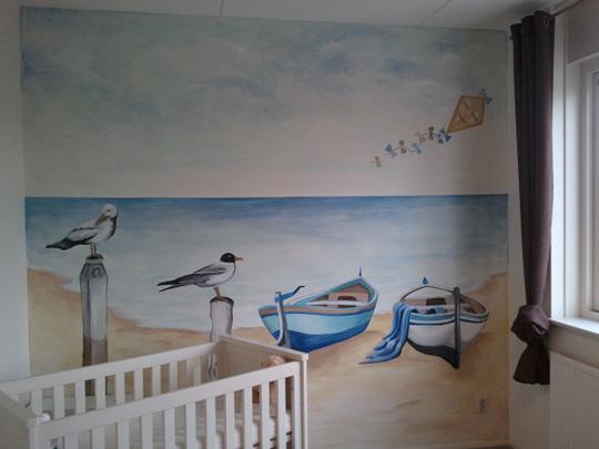 Habitaci n marinera para beb s habitaciones tematicas for Vinilos para habitaciones de ninos