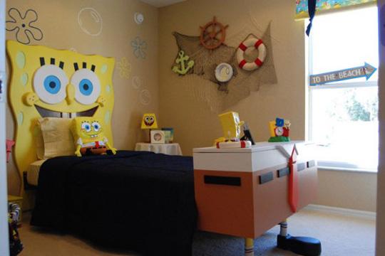 Decoraci n infantil bob esponja habitaciones tematicas - Habitaciones tematicas para ninos ...