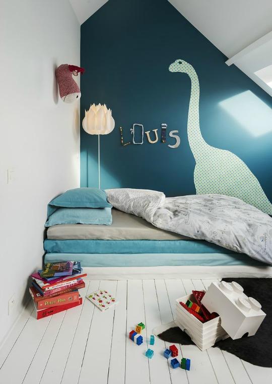 Inspiración para un dormitorio de Dinosaurios