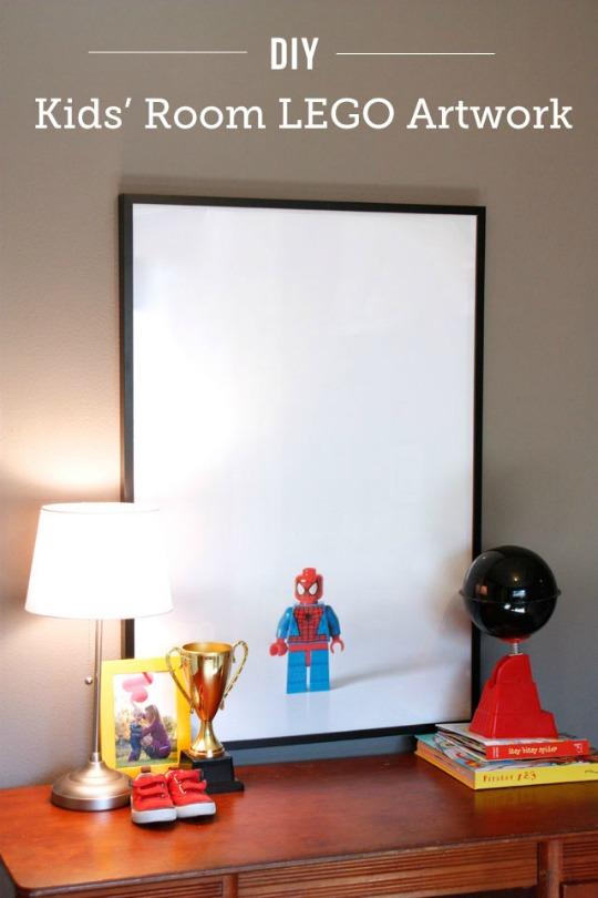 Arte Lego para decorar las paredes