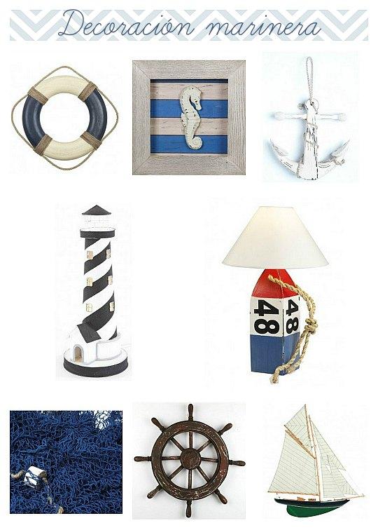 Complementos decorativos para un ambiente marinero