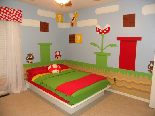 habitaci n infantil de mario bros habitaciones tematicas. Black Bedroom Furniture Sets. Home Design Ideas