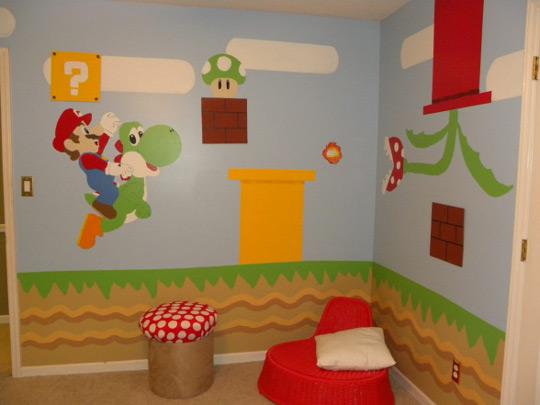 Habitación infantil de Mario Bros