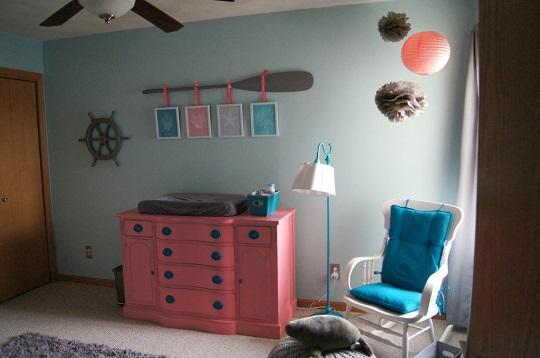 Decoraci n n utica para beb ni a habitaciones tematicas - Habitaciones de bebe nina ...