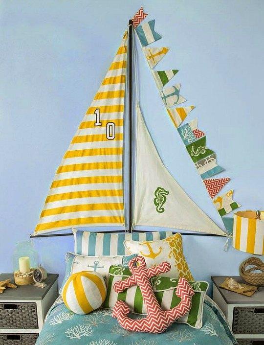 Nautica habitaciones tematicas - Telas con motivos infantiles ...