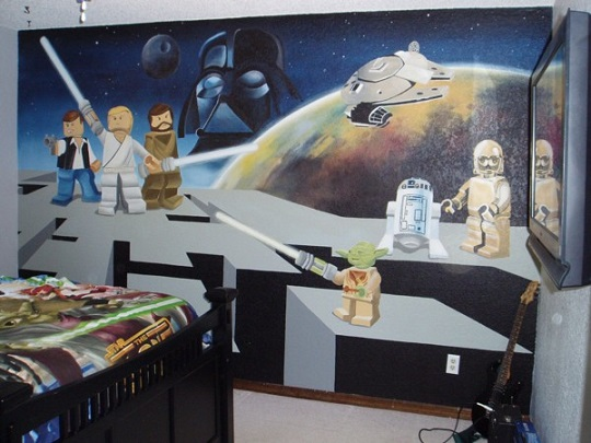Mural lego star wars habitaciones tematicas for Decoracion star wars