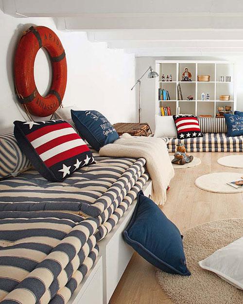 Habitacion juvenil de estilo marinero habitaciones tematicas for Fundas nordicas juveniles chico