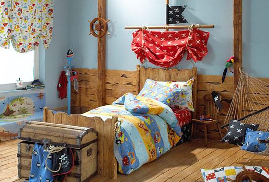 Dormitorio de piratas para niños