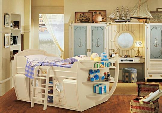 Dormitorio náuticos para niños