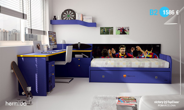 Habitaci n infantil fc barcelona habitaciones tematicas - Habitaciones infantiles barcelona ...