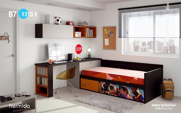 Habitaci n infantil fc barcelona habitaciones tematicas - Dormitorios infantiles barcelona ...