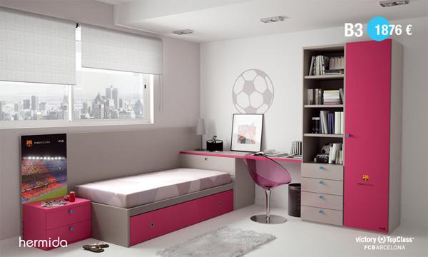 Habitaci n infantil fc barcelona habitaciones tematicas - Muebles infantiles barcelona ...