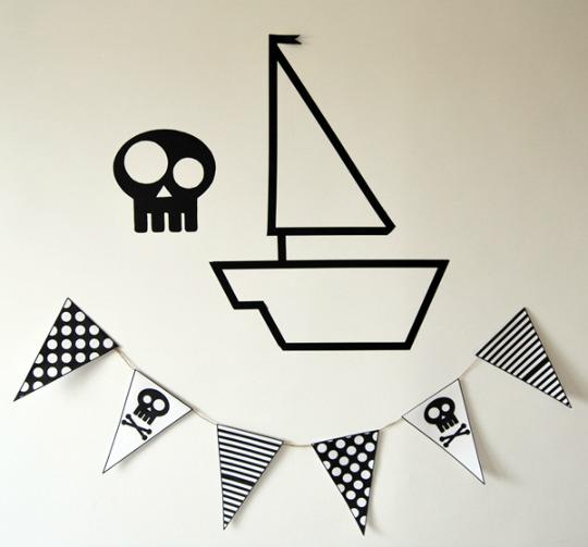 Decora una habitación Pirata con nuestra guirnalda imprimible