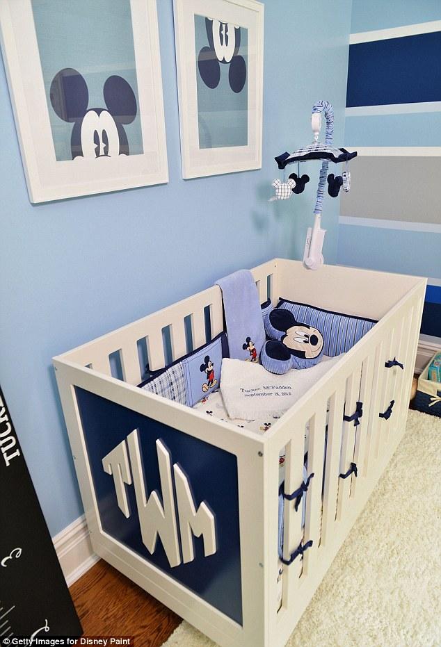 Dormitorio Mickey Mouse en tonos azules