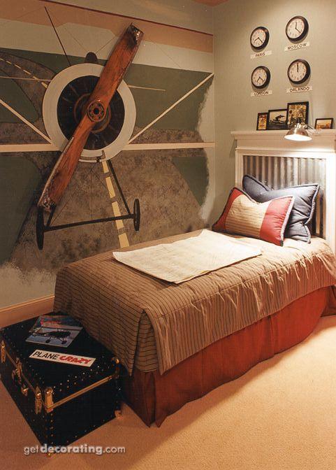 Dormitorios de temática Aviones