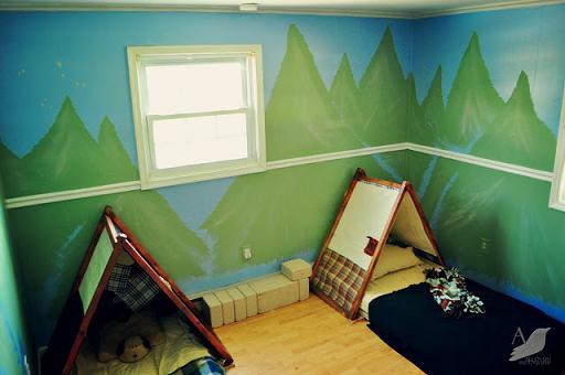 Habitación temática: Acampada en el bosque