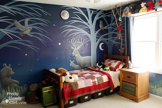 Habitación infantil temática Bosque