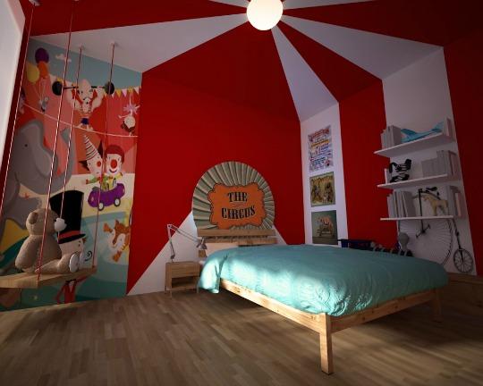 Decoración infantil inspirada en el circo