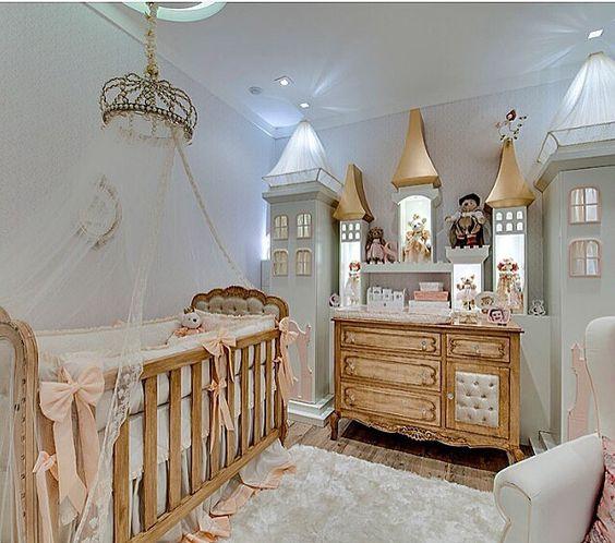 Habitaciones cl sicas de princesas para beb s for Ideas para habitaciones para bebe
