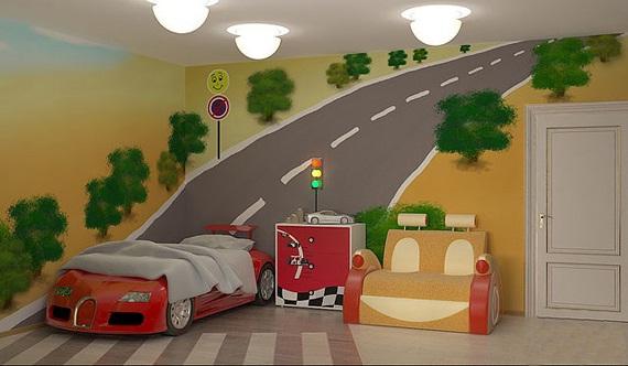 mural para habitaciones tem ticas de coches habitaciones tematicas. Black Bedroom Furniture Sets. Home Design Ideas