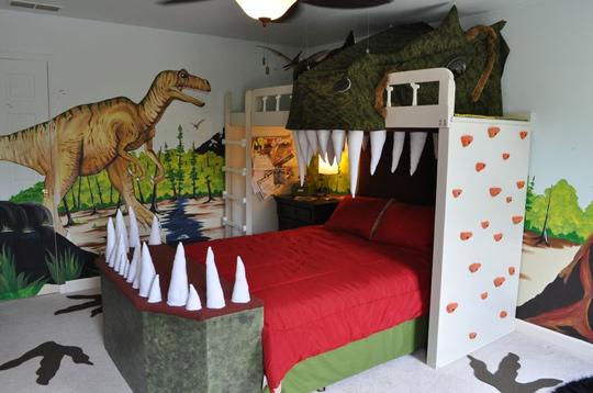 Dinosaurios en la habitación infantil