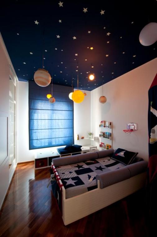 Habitación infantil espacial