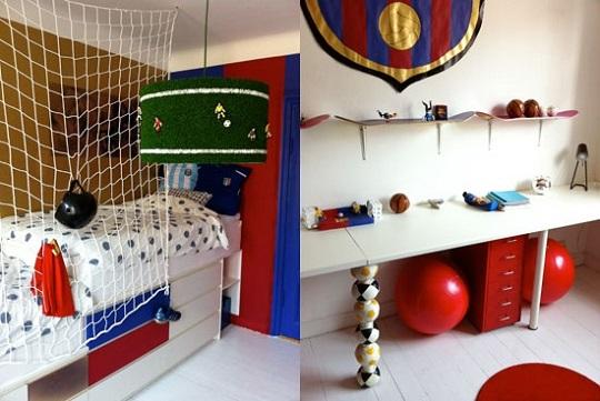 Una habitaci n de f tbol muy original habitaciones tematicas - Habitaciones infantiles barcelona ...