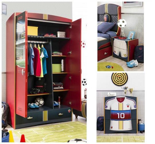 Futbol habitaciones tematicas for Modelos de habitaciones infantiles