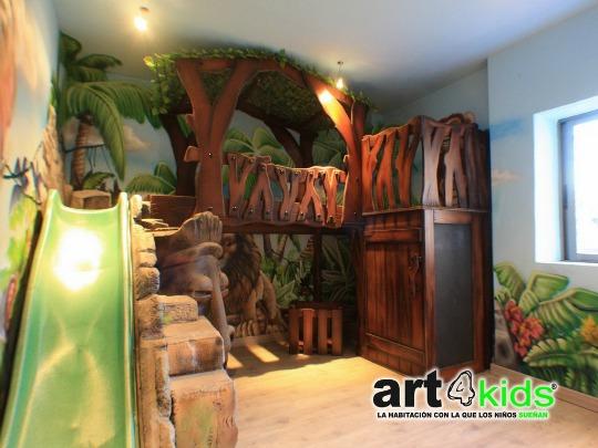 Una habitación temática inspirada en la Selva