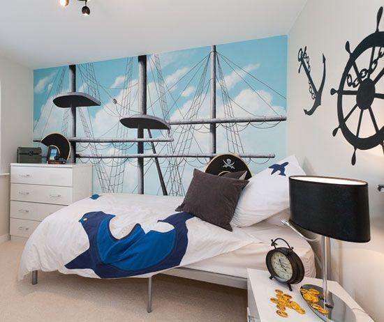 Habitación juvenil de Piratas