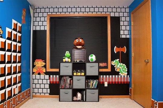 El dormitorio de s per mario bros habitaciones tematicas for Cuartos decorados de dragon ball z