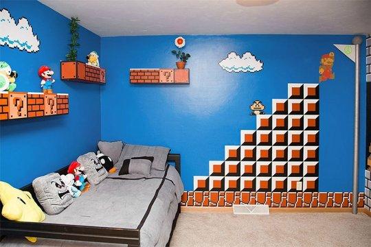 El dormitorio de Súper Mario Bros