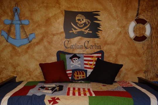 Fotos de habitaciones infantiles Piratas