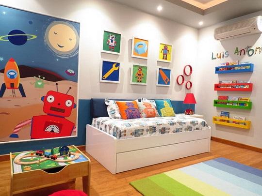 Decoración infantil Robots | Habitaciones Tematicas