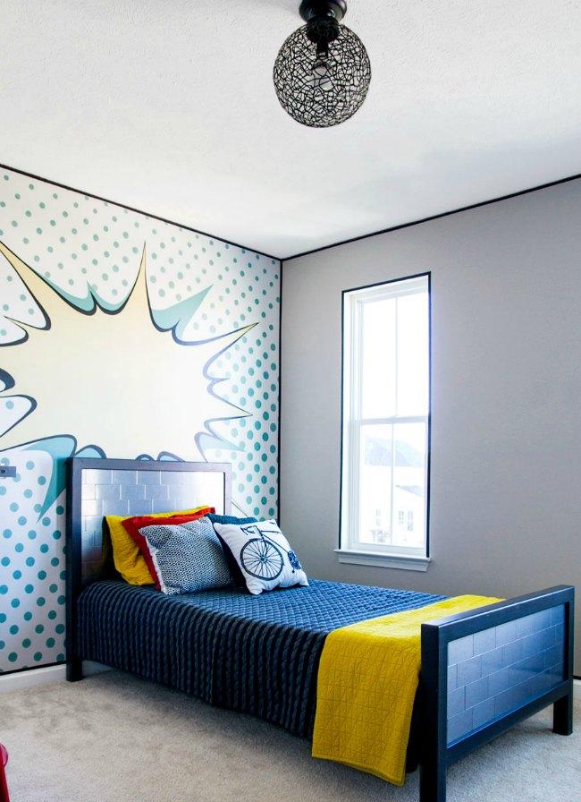 Tem tica c mic para una habitaci n juvenil habitaciones for Mural habitacion juvenil