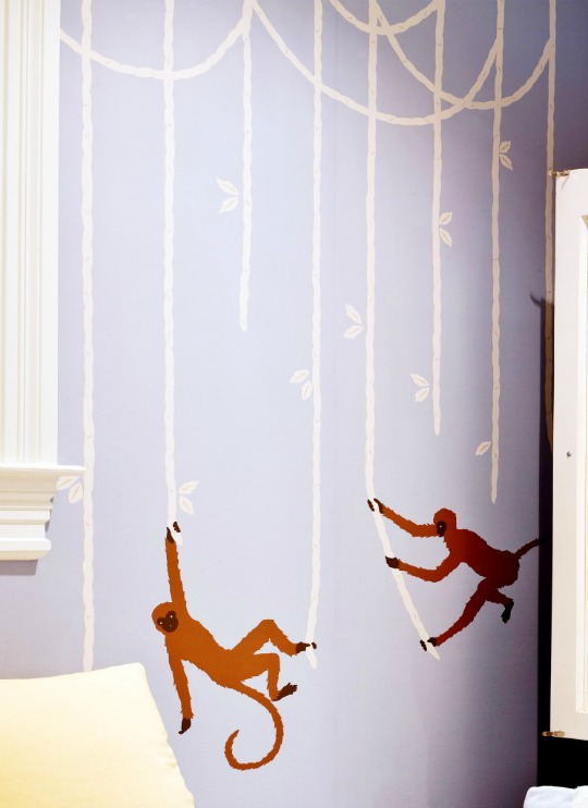 Habitación de bebé temática Monos