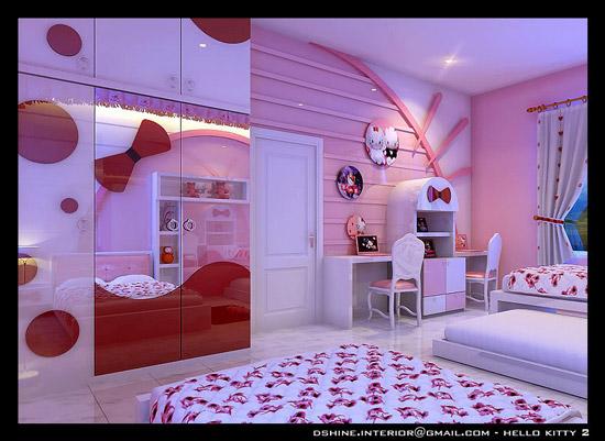 Fotos de habitaciones hello kitty habitaciones tematicas for Cuarto para nina hello kitty