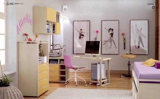 Dormitorio juvenil ballet habitaciones tematicas - Habitaciones decoradas juveniles ...