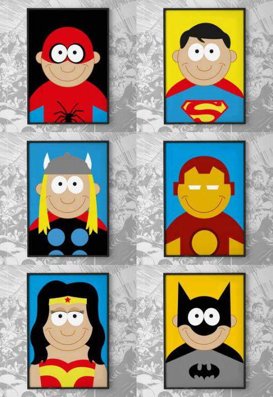 Láminas de Superhéroes de CreOHSop